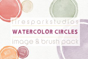 Blank Watercolor Circles