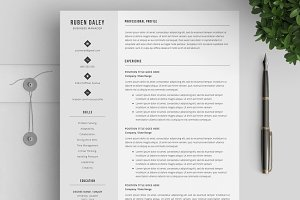CV Template / Modern Resume Template