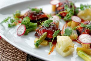 Asian style vegetable appetizer