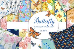 seamless butterfly patterns