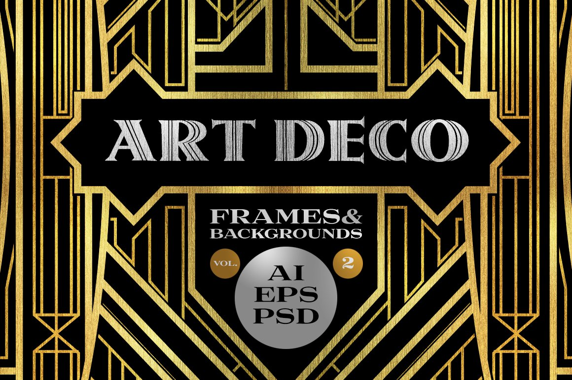 10 Frames Vol 2 Art Deco Style Graphic Objects