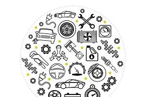 Car service round concept