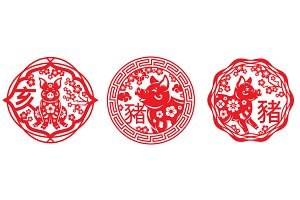 Chinese New Year Emblems