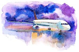 Passenger aircraft. Airplane ready