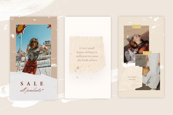 Social Media Templates: Kristina&Co - Animated Story - Be you