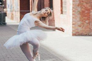 beautiful elegant young ballerina lo