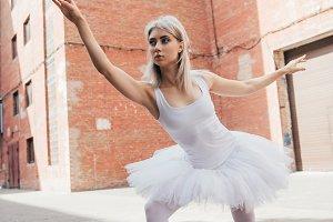 beautiful elegant young ballerina in