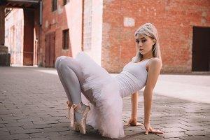 beautiful elegant ballerina looking