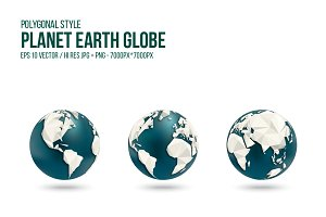 Planet Earth Globe - polygonal style