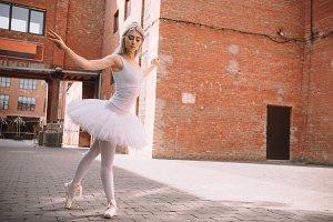 beautiful young ballet dancer in tut