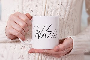 White Mug Mock-up. PSD Smart + JPEG
