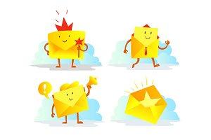 Envelope character set. Favorite