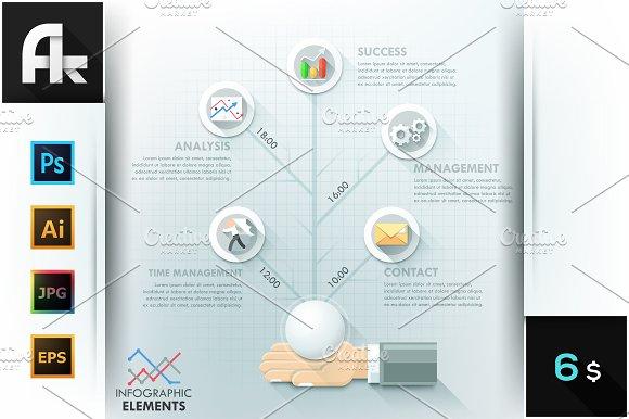 Business Hands Teamwork Infographics in Presentation Templates