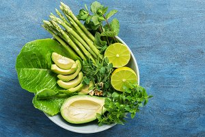 Detox Buddha bowl with avocado