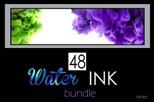 48 Water ink backgrounds. Vol. 1
