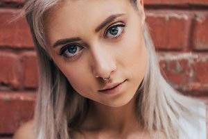 portrait of beautiful blonde girl st