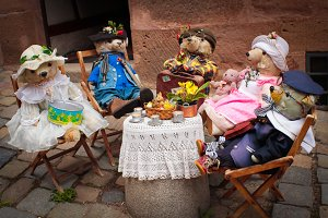 tea party bears in the woods