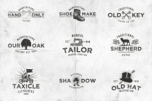 Vintage Style Logo Set Vol.1