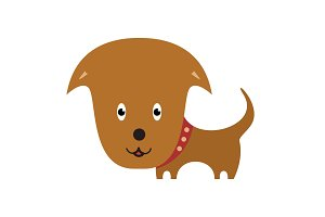 Happy Dog cartoon. Cartoon personage