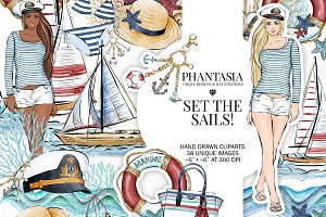 Nautical Watercolor Clipart