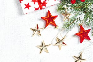 Christmas gifts decoration green fir