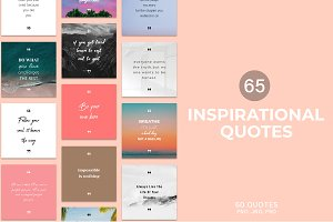 65 Inspirational Quotes Pack