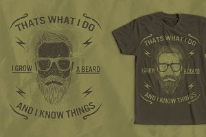 Funny Beard Saying T-Shirt Design