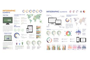Set of infographics, illustration