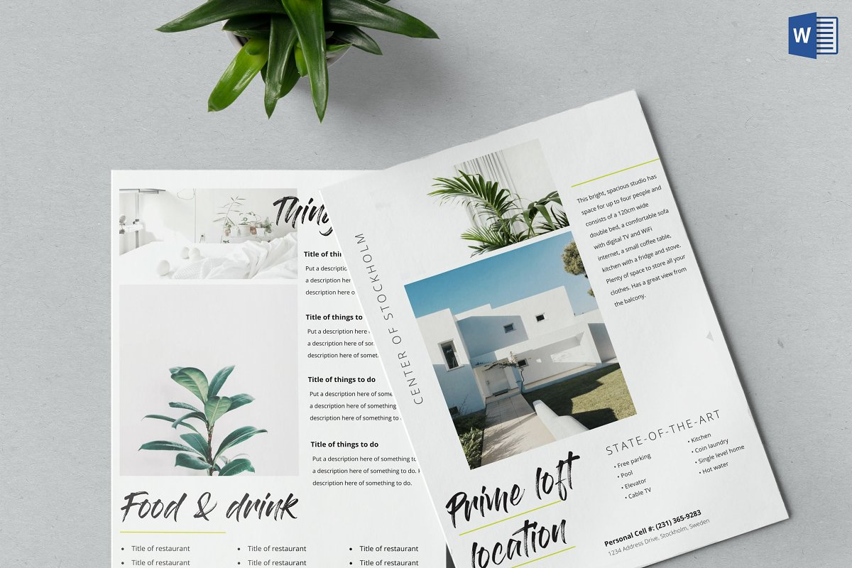Airbnb Welcome Kit Template Word Doc ~ Flyer Templates ~ Creative Market
