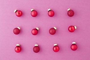 Red Ornament Christmas Balls