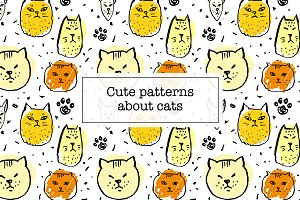 Cute patterns about cats