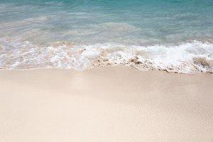 Caribbean beach with a white sand