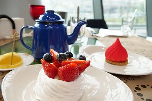 Russian traditional tea dessert