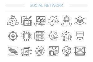 24 Social Network Icon.