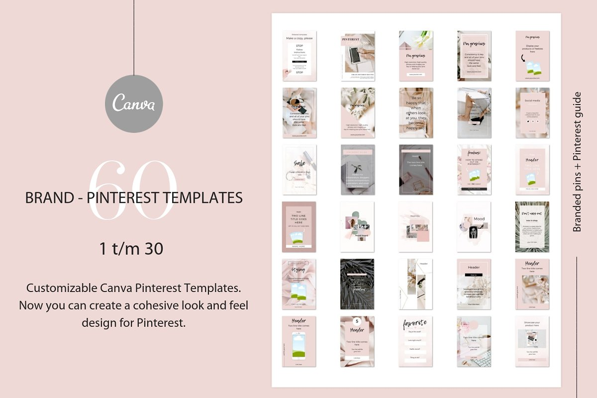 Branded pins + Pinterest guide