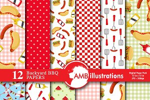 BBQ Digital Papers AMB-913