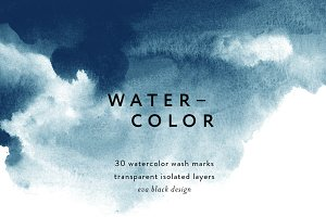 Watercolor Wash Marks