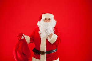 Christmas. Portrait of Santa Claus