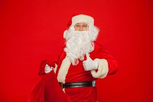 Portrait of Santa Claus with huge