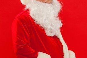 Christmas. Photo of happy Santa