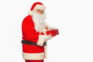 Santa Claus: Cheerful With Small