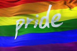 LGBT PRIDE Rainbow Realistic Flag