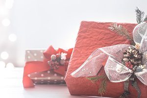 Beautiful festive Christmas red box