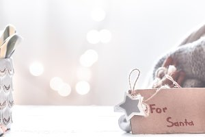 Christmas festive background with gi