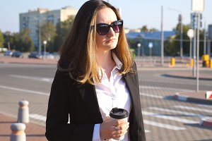 Portrait of young businesswoman with