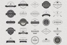 25 Vintage Typographic Logos, eps 10
