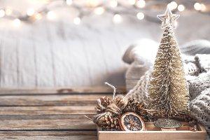 Christmas festive decor still life