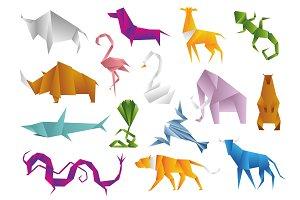 Animals origami set japanese folded