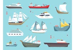Ships at sea, shipping boats, ocean