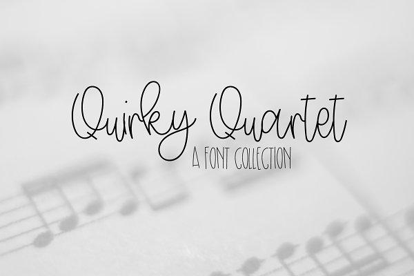 Quirky Quartet - Font Collection